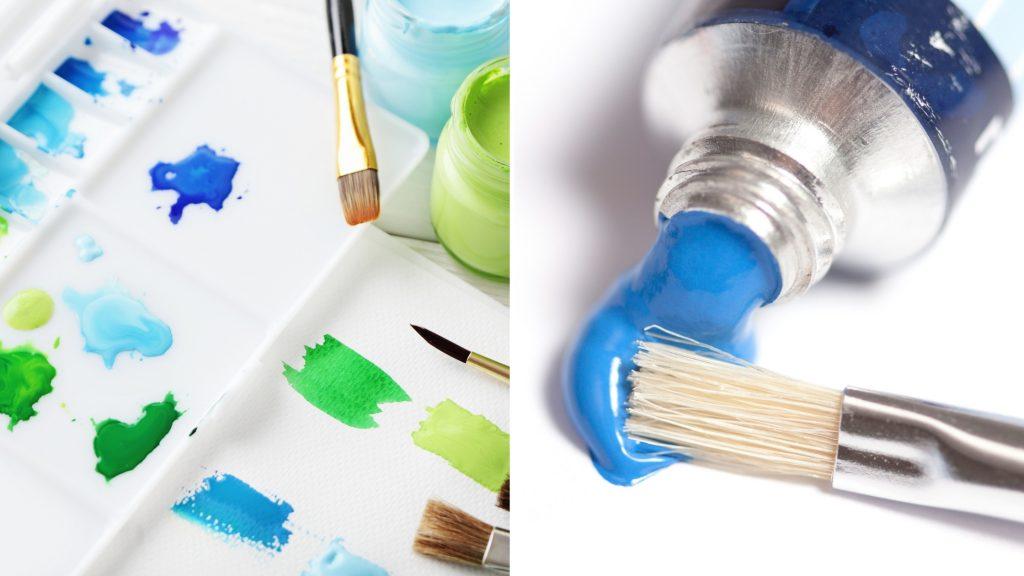 watercolor vs acrylic paint